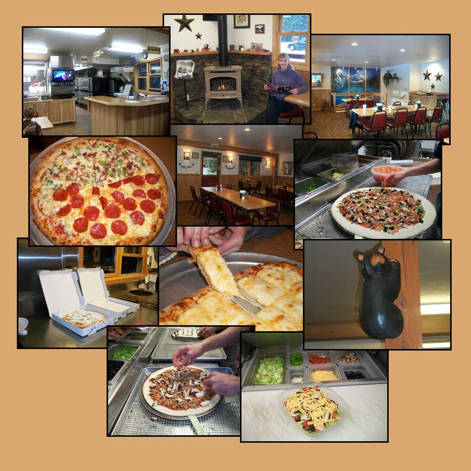 Pictures of some great tasting pizza from Rosa's Pizza in Bigfork MT 