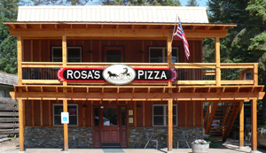 Pizza in Bigfork at Rosa's Pizza